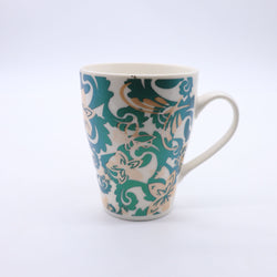 Tribal Floral Pattern Printed Mug- Emerald Green