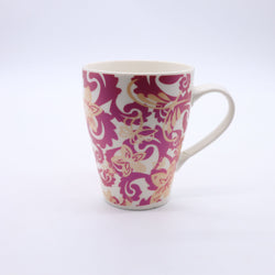 Tribal Floral Pattern Printed Mug- Red
