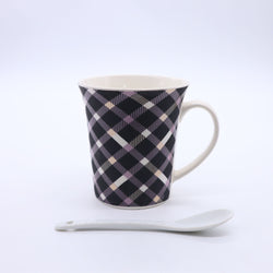Geometric Pattern Printed Coffee Mug- Black