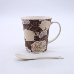 Retro Rose Floral Printed Mug