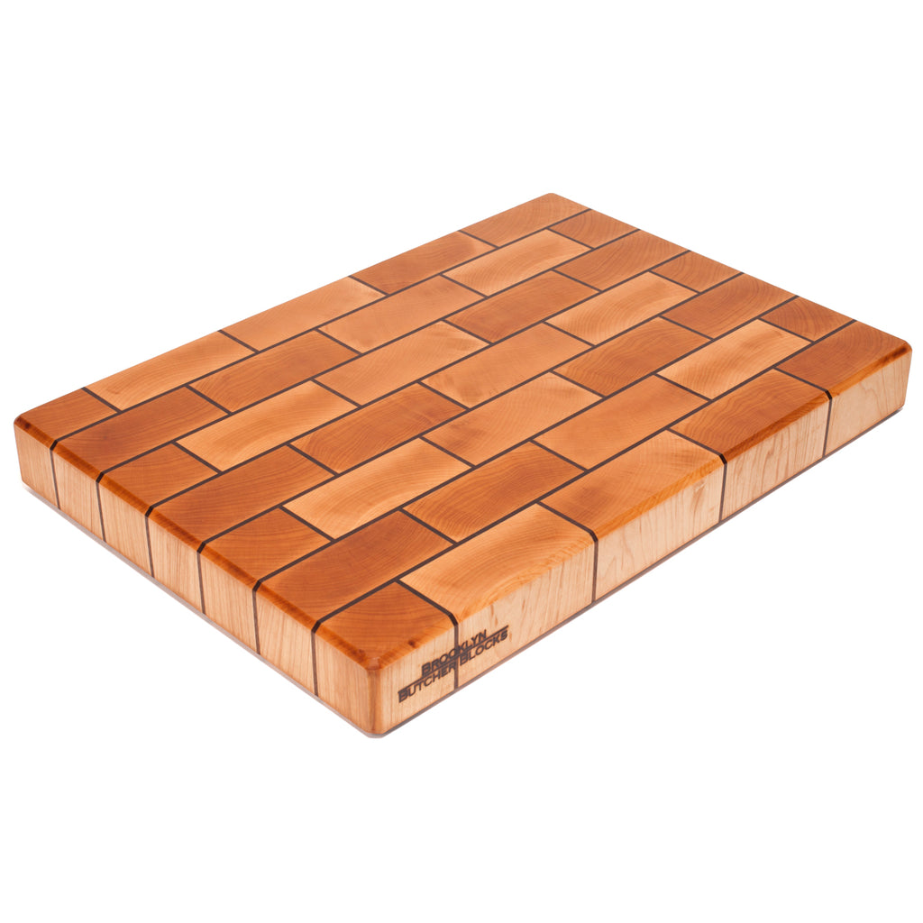 Maple&Walnut Brickwork End Grain Butcher Block
