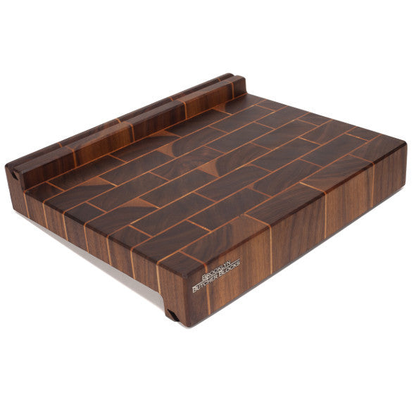 iBlock : The Cutting Board That Holds Your Tablet (Walnut&Cherry Brick'n'Mortar)
