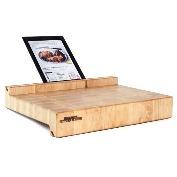 iBlock : The Cutting Board That Holds Your Tablet (End Grain Maple)