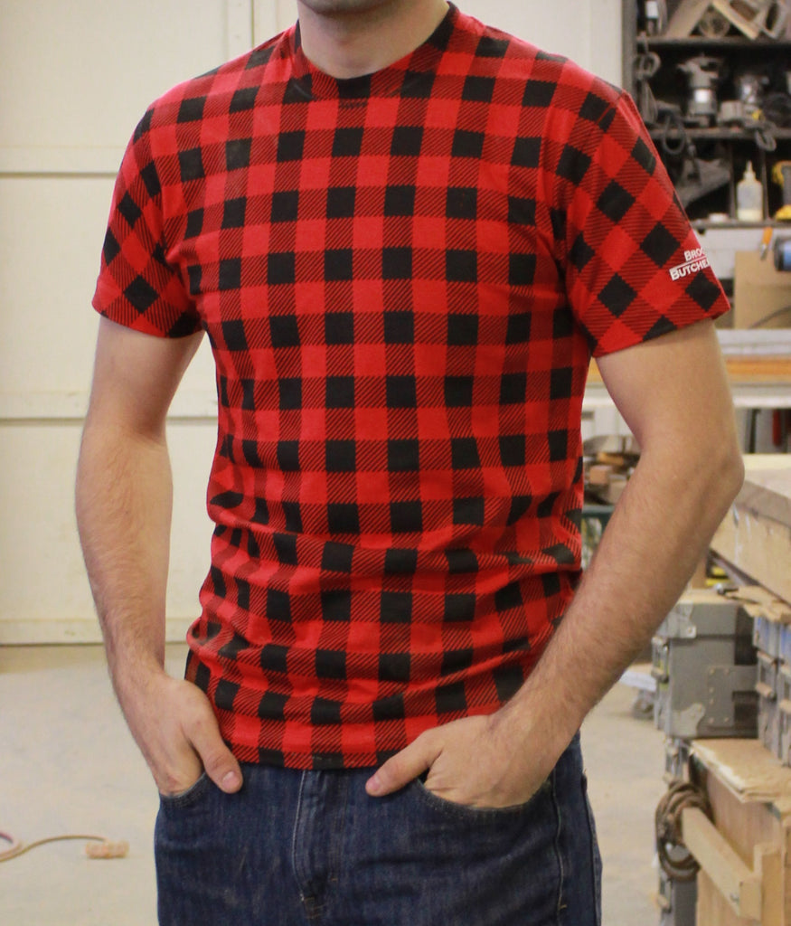 Plaid Quot Flannel Quot Printed T Shirt Brooklyn Butcher Blocks
