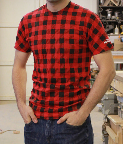 "Plaid ""Flannel"" Printed T Shirt"