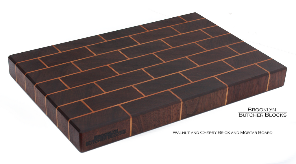 Walnut&Cherry Brickwork End Grain Butcher Block