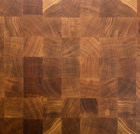 Custom End Grain Oak Countertop - square pattern