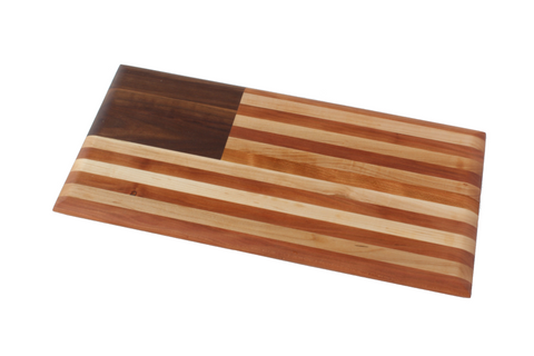 American Flag Cutting Board: a Historical Heirloom (Long Grain)