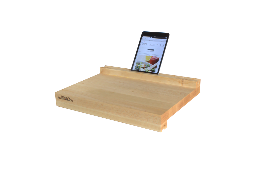 iBlock : The Cutting Board That Holds Your Tablet (Long Grain Maple)
