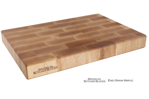 End Grain Maple Butcher Block with Handles and Juice Groove
