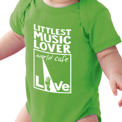 "World Cafe Live ""Littlest Music Lover"" Baby Onesie"
