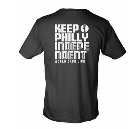 NEW! World Cafe Live- KEEP PHILLY INDEPENDENT TEE