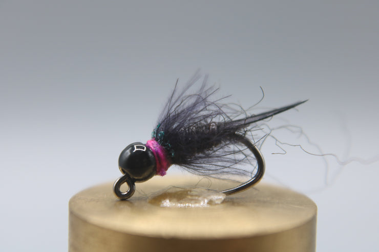 Tungsten Bead Barbless Jig Stonefly - Black