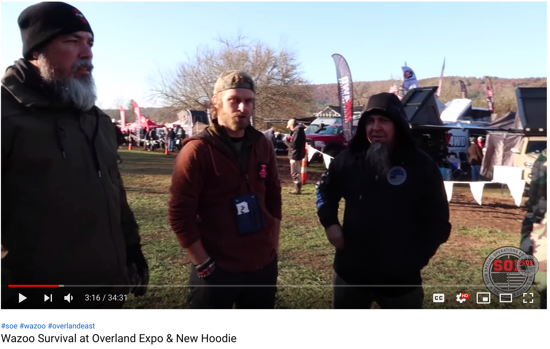 Wazoo Survival at Overland Expo & New Hoodie