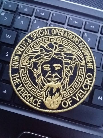 Versace of velcro woven patch