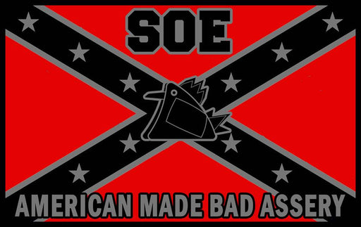 Rebel Flag SOE T shirt Red and Black