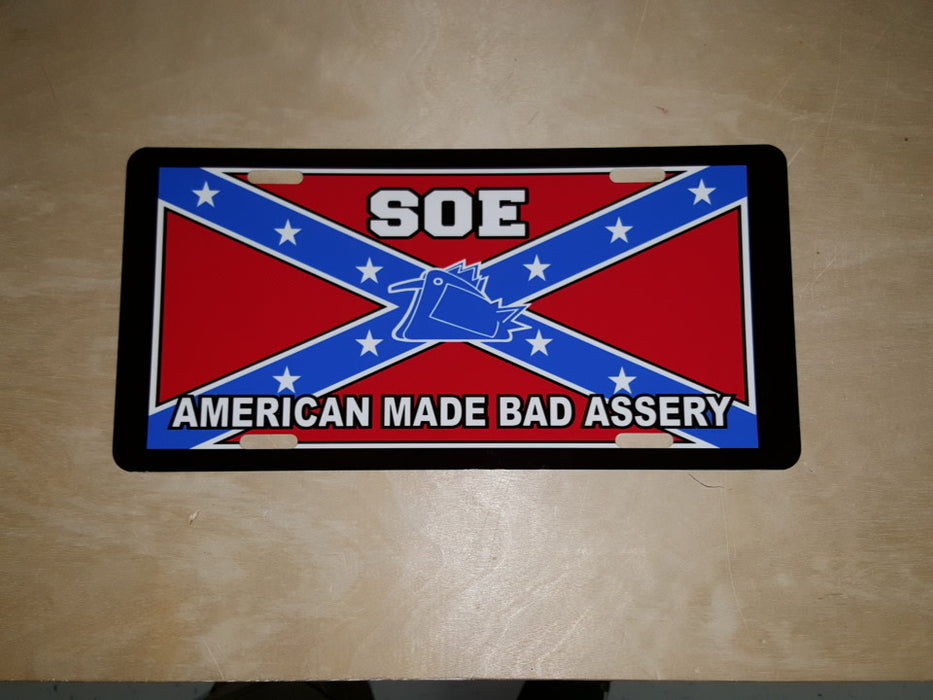 Original S.O.E. Stars and Bars License Plate