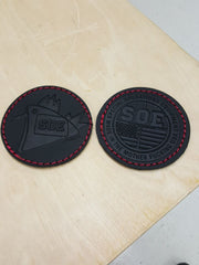 Combat Cock leather patch