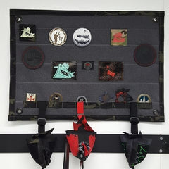 Patch Wall Hanger camo wrapped edges and coin slots