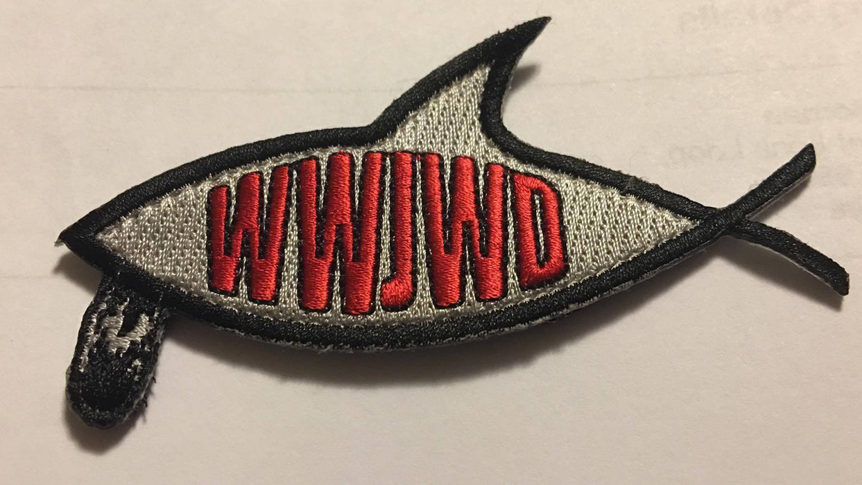 WWJWD Bearded Fish Patch