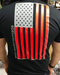 Black Red Silver flag shirt