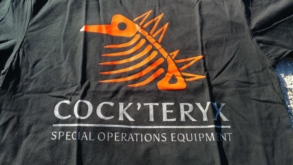 074944223 Red/silver Print Cock'teryx Tshirt — Special Operations Equipment