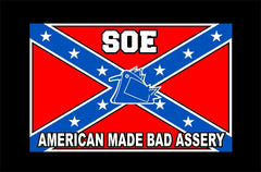 Rebel Flag SOE T shirt Red White Blue
