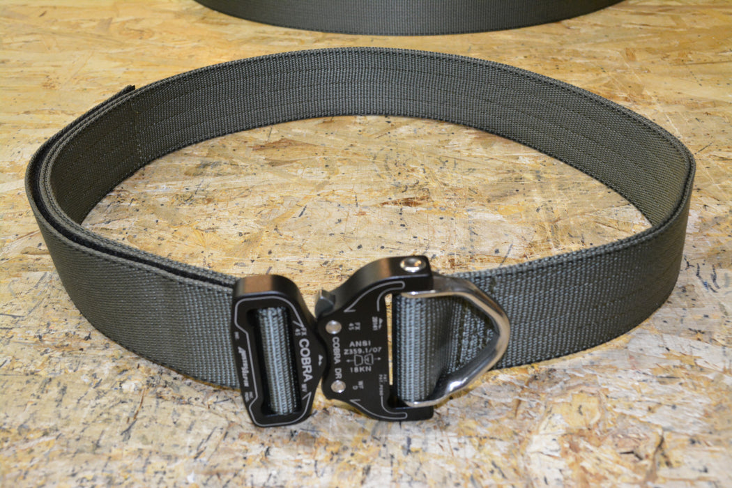 Tactical DRing Riggers Belt with Cobra Quick Release Buckle in