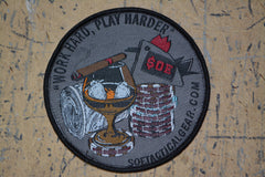 Work Hard/Play Harder patch