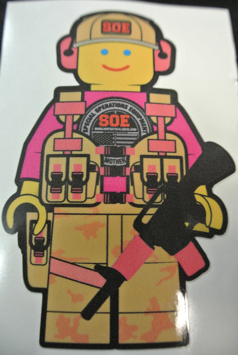 "Lego Girl sticker 4.5"" tall x 3"" wide"