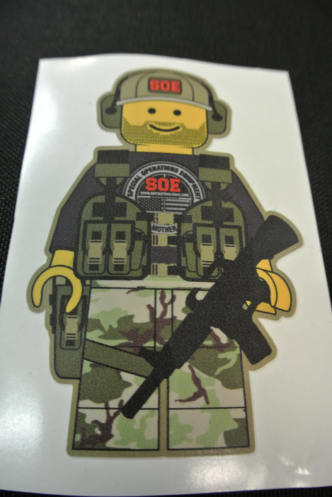 "Lego Man Sticker 4.5"" tall x 3"" wide"