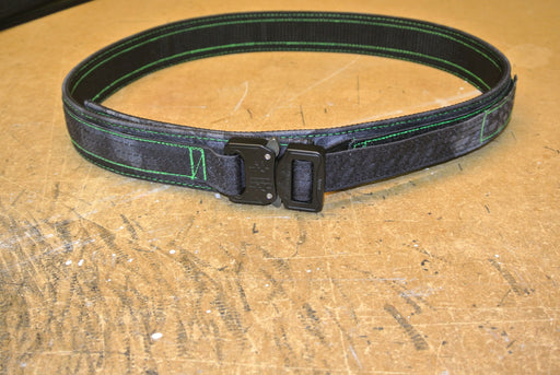 Typhon/Typhon Fully wrapped EDC belt with Toxic Green thread