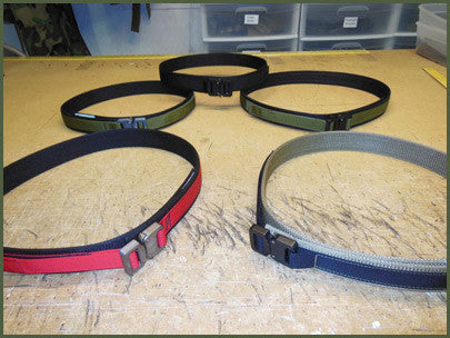 "Gray Base EDC Belt With Velcro Lining - Size 46"" to 54"""