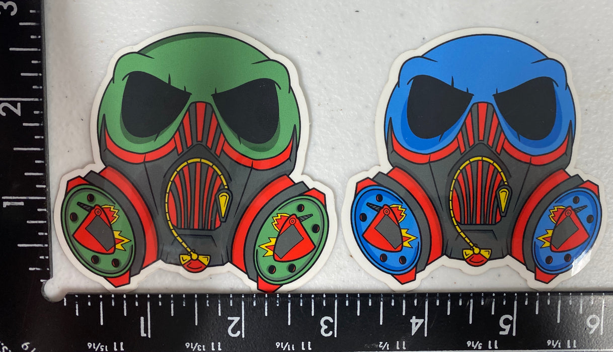 "3"" Gas Mask Sticker"