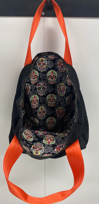 Halloween/ Day of the Dead Lined Grocery Bag