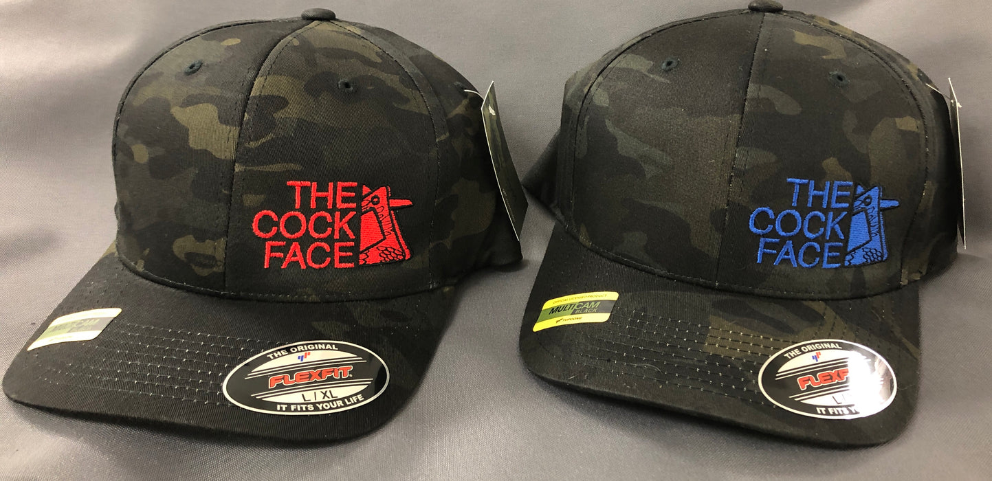 55ef0eb06b647 Multicam Black Cock Face Flexfit Hats — Special Operations Equipment