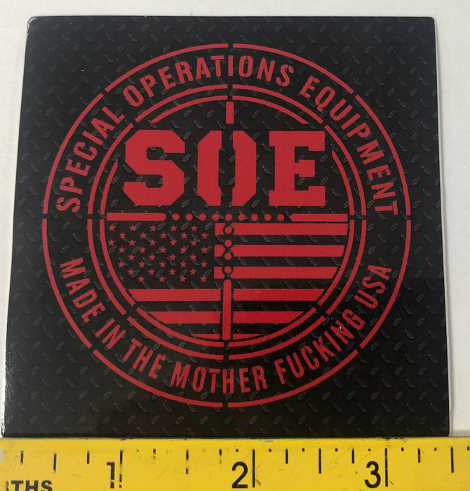SOE Diamond Plate Sticker