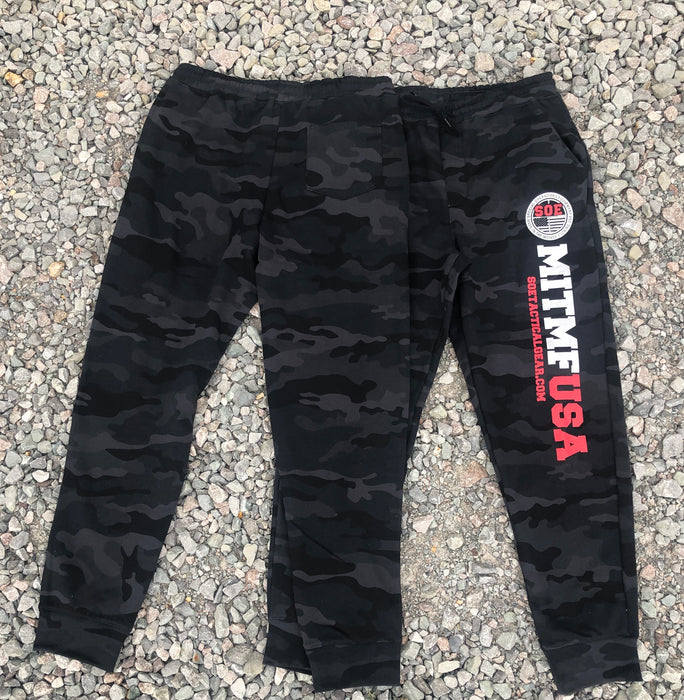 Black Camo Sweat Pants