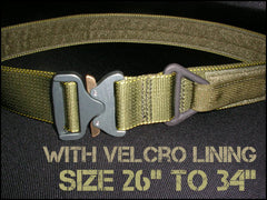 "1.75"" Cobra Rigger's Belt With Velcro Lining - Size 26"" to 34"""