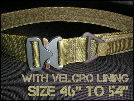 "1.75"" Cobra Rigger's Belt With Velcro Lining - Size 46"" to 54"""