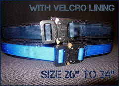 "EDC Belt With Velcro Lining - Blue Line Collection - Size 26"" to 34"""