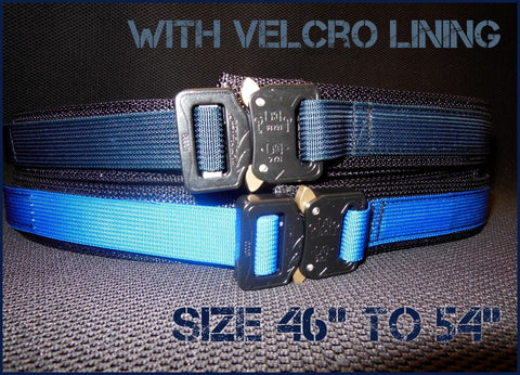 "EDC Belt With Velcro Lining - Blue Line Collection - Size 46"" to 54"""