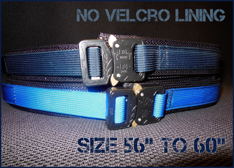 "EDC Belt Without Velcro Lining - Blue Line Collection - Size 56"" to 60"""