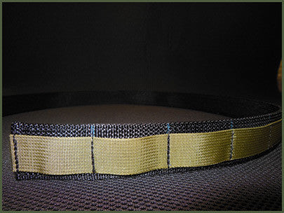 "Gray Base EDC Low Profile Belt With Velcro Lining - Size 26"" to 34"""