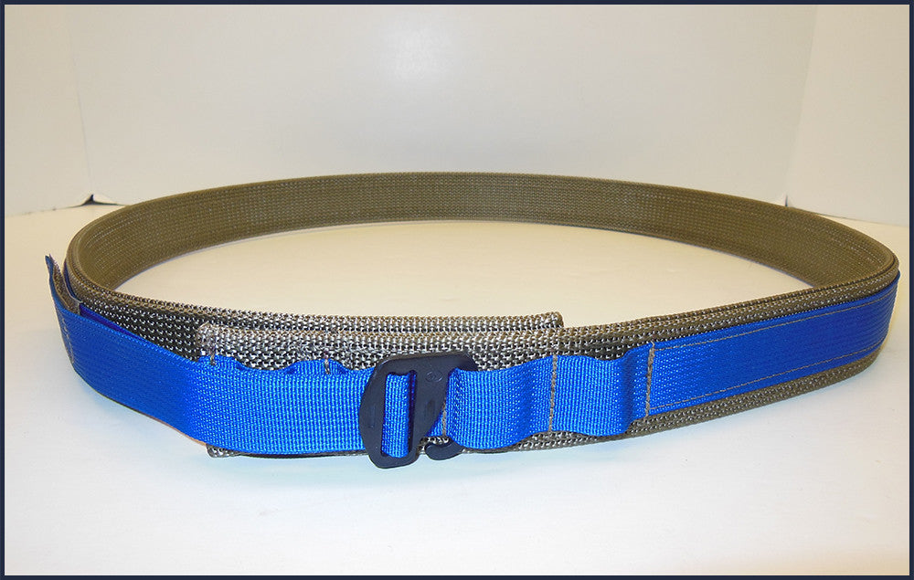 "EDC Low Profile Belt With Velcro Lining - Blue Line Collection - Size 56"" to 60"""