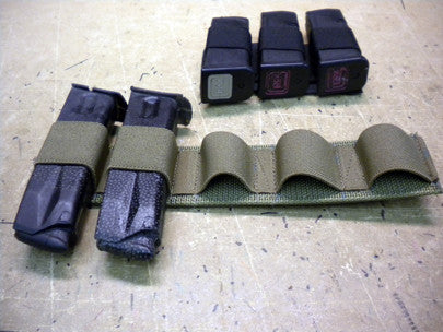 Velcro Backed Pistol Mag Card
