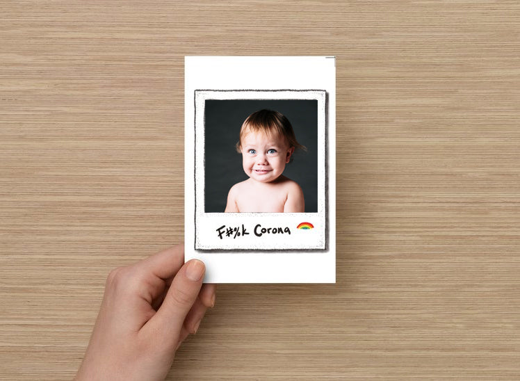 F#%k Corona Polaroid Card 10-Pack