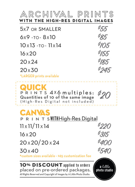 Print Prices A-La-Carte