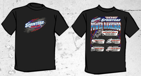 SprintCarMania.com / 2015 Power Rankings T-Shirt