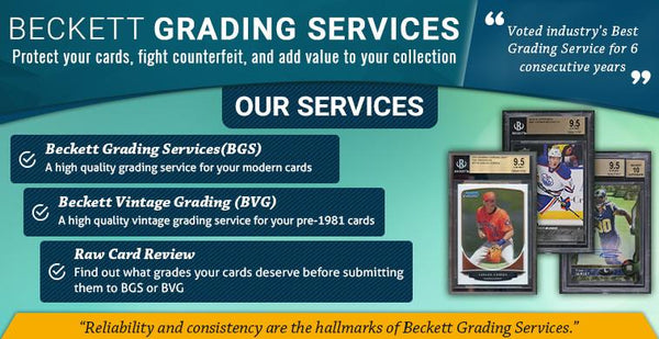 Beckett Card Grading Service, 10 day turn around,  SPECIFY IN PURCHASE NOTES WHICH CARD/BREAK ID, AUG82017GRADELIST